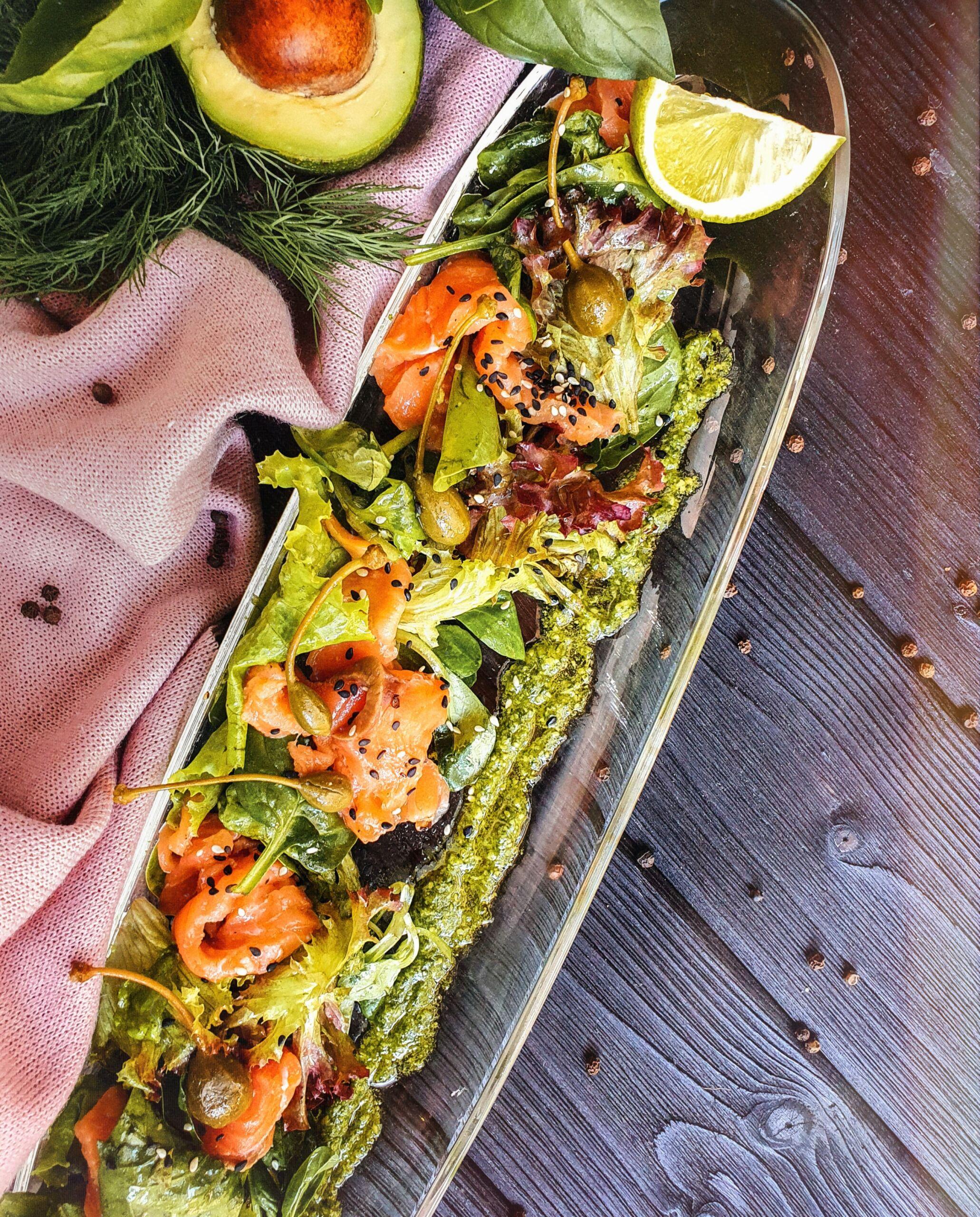 Севиче с семгой Pinzeria by Bontempi Итальянский ресторан Волгоград пицца заказать