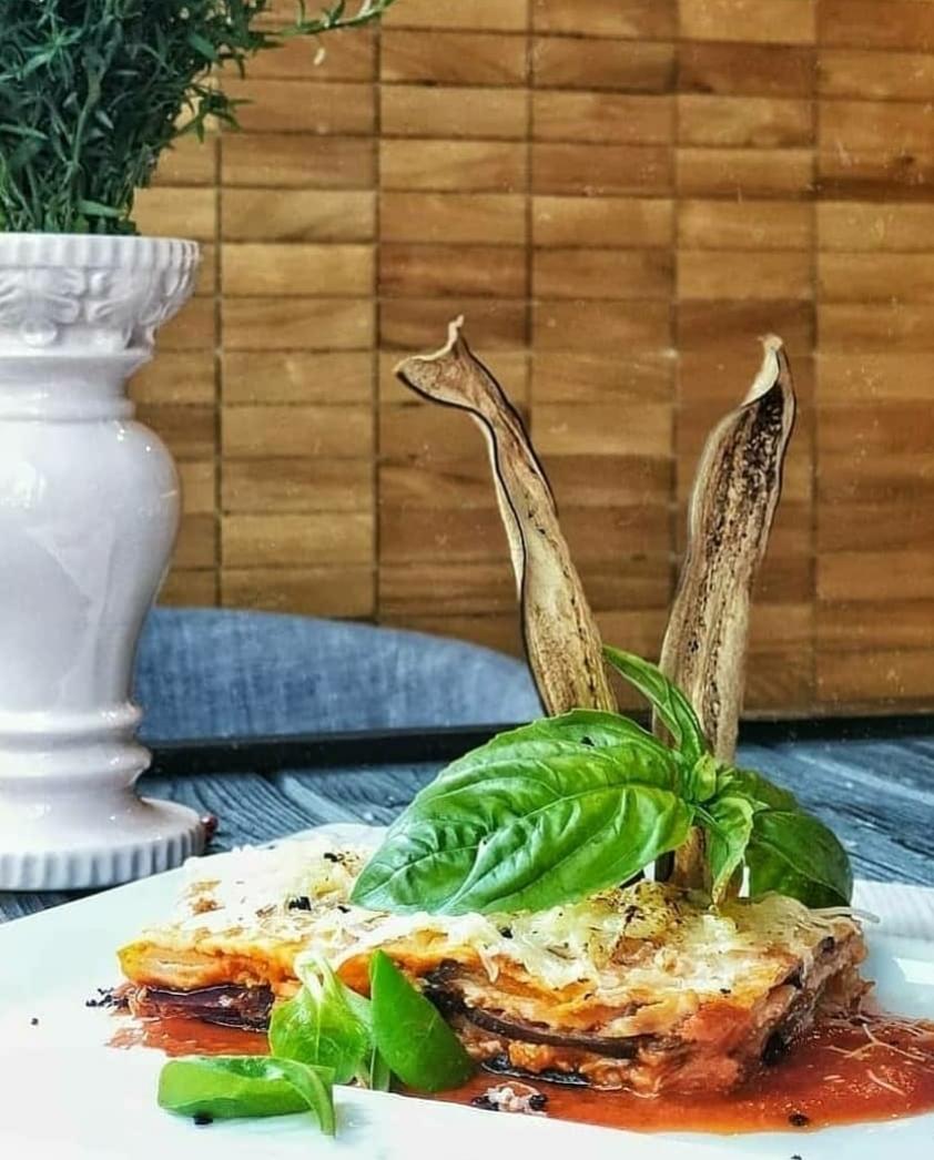 Сочные баклажаны Пармеджано с сыром моцарелла Pinzeria by Bontempi Итальянский ресторан Волгоград пицца заказать