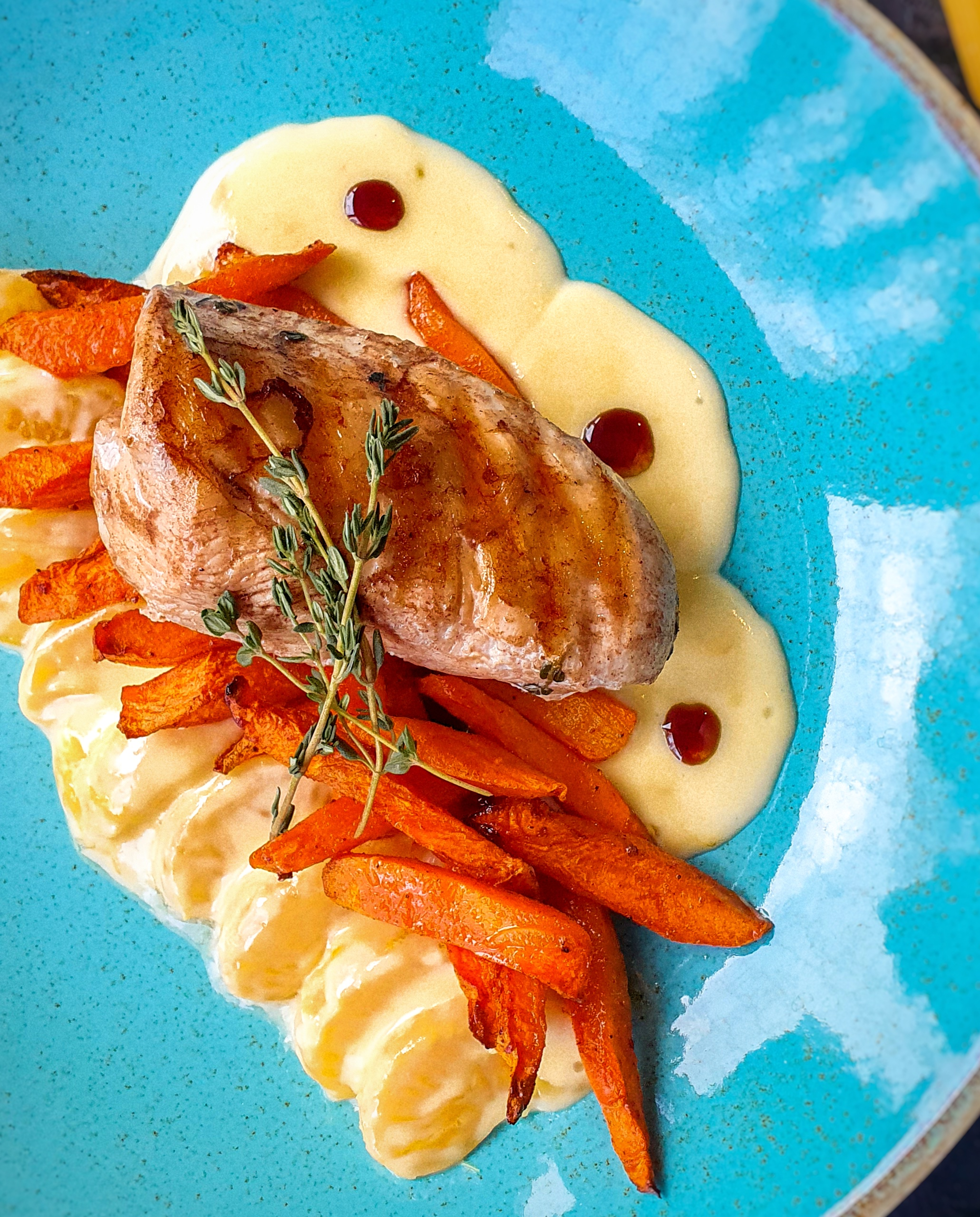 Куриное филе с мандариновым соусом Pinzeria by Bontempi Итальянский ресторан Волгоград пицца заказать
